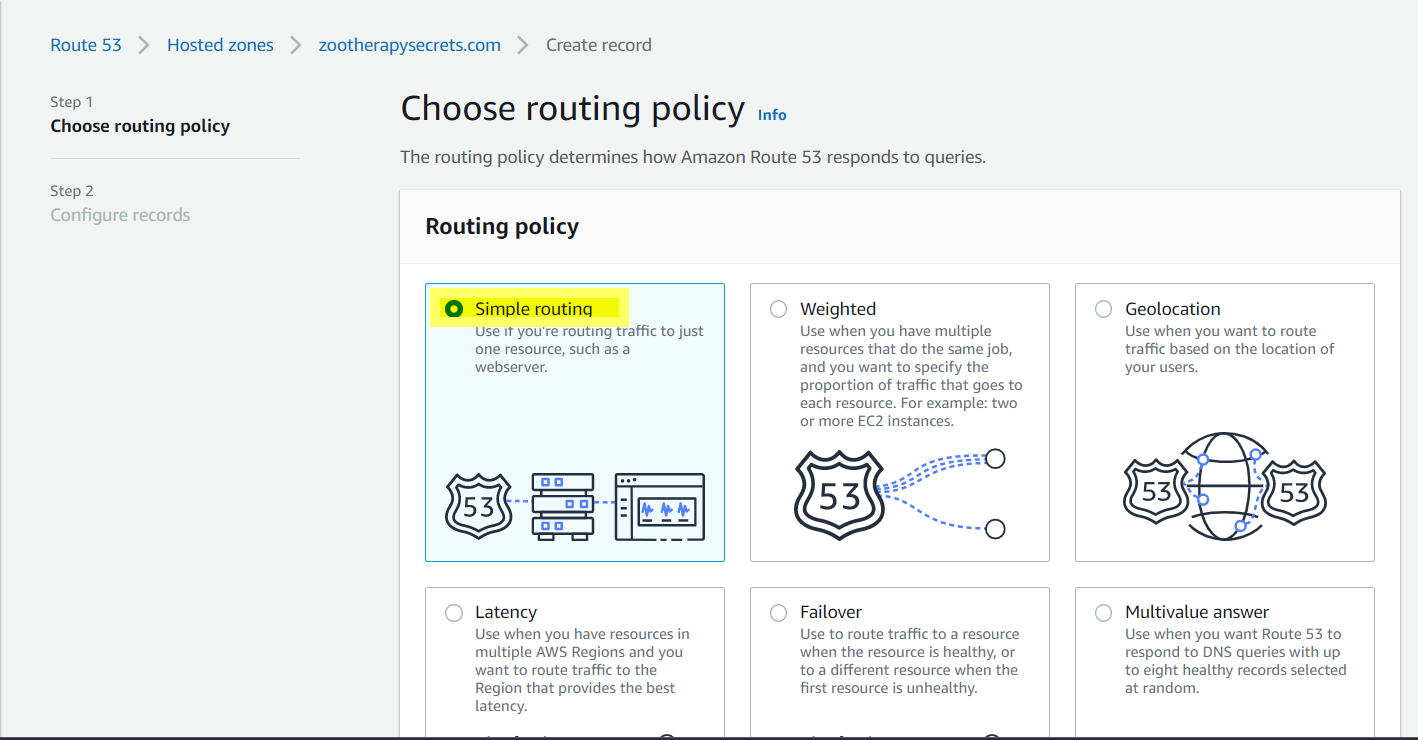Routing-policy