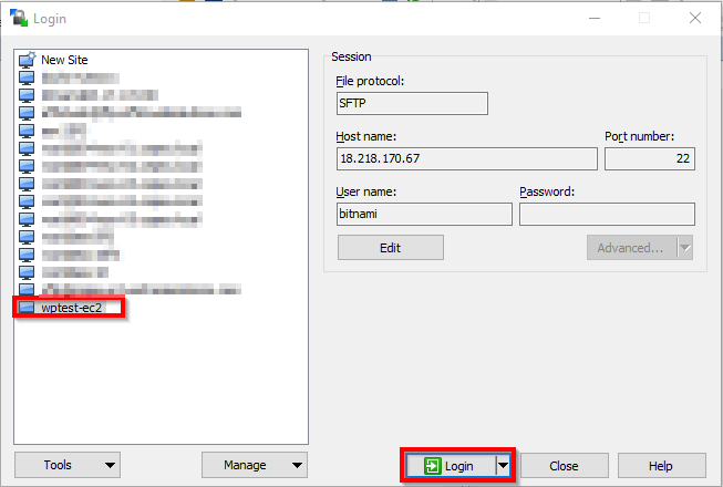 WinSCP-Session-Creation